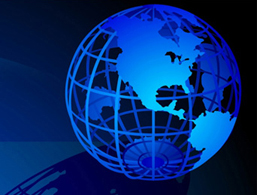 Tax preparation head globe image